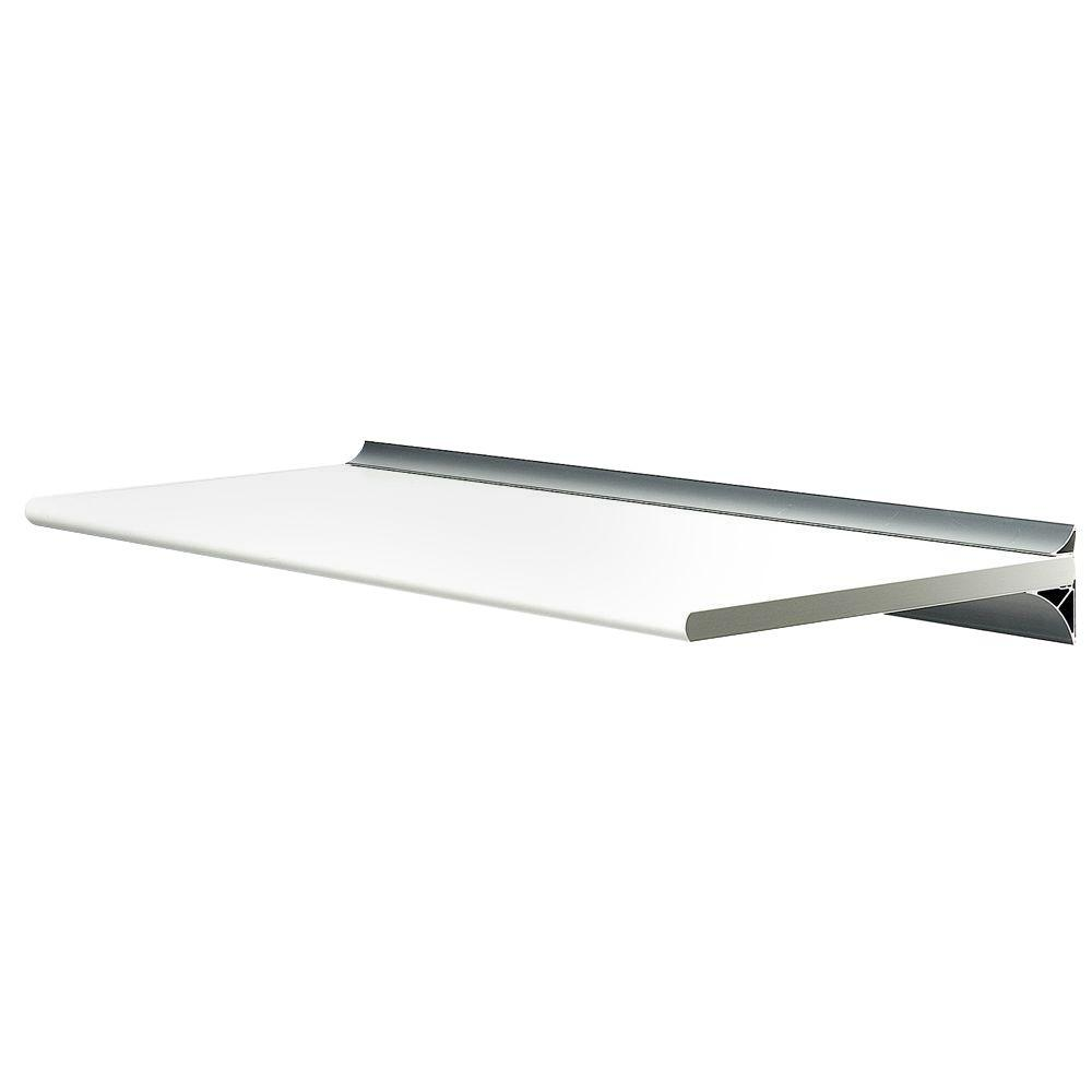 Wallscapes Gallery White Shelf with Silver Bracket Shelf Kit (Price Varies By Size)