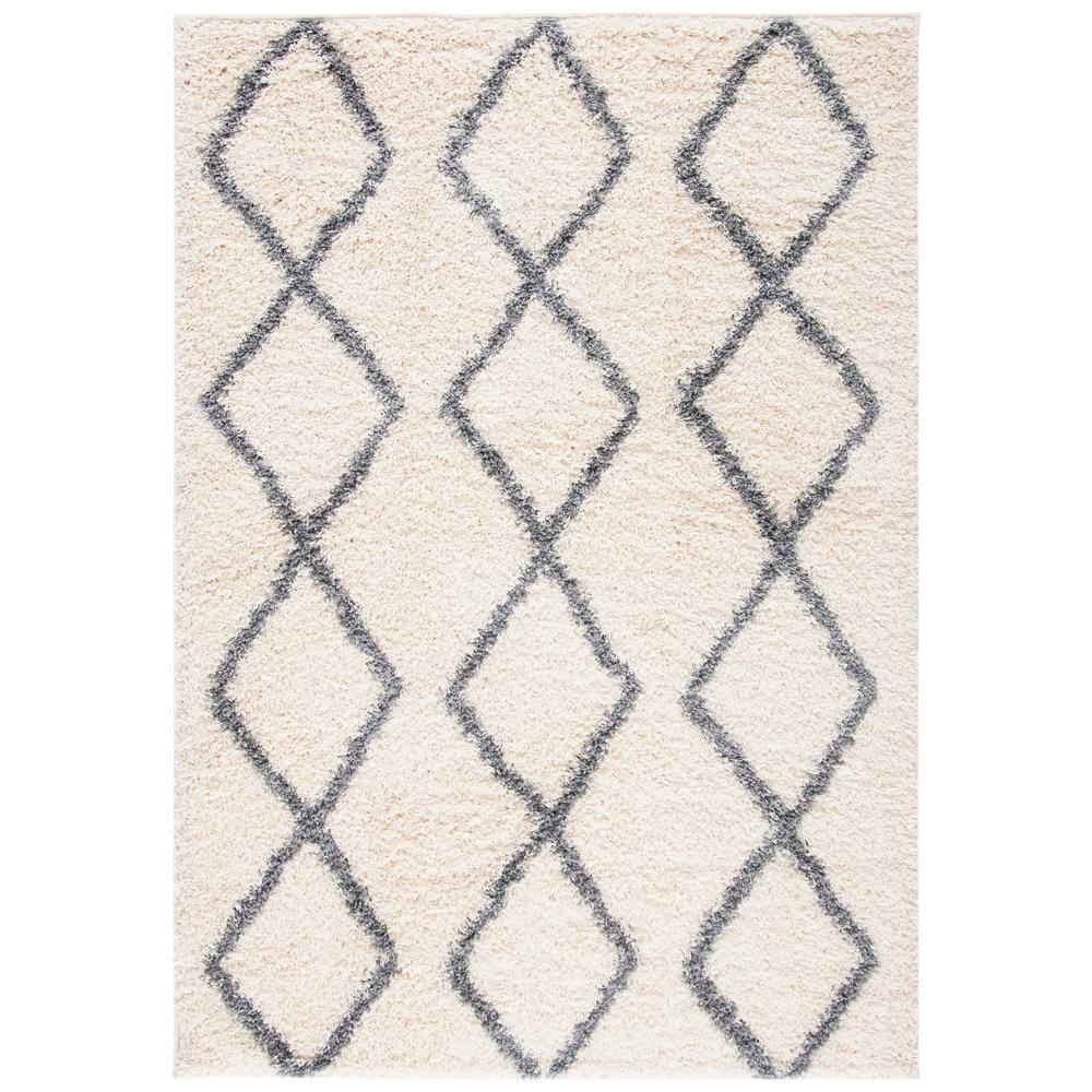 Safavieh Venus Shag Ivory Gray 8 Ft X 10 Ft Area Rug Vns682a 8 The Home Depot