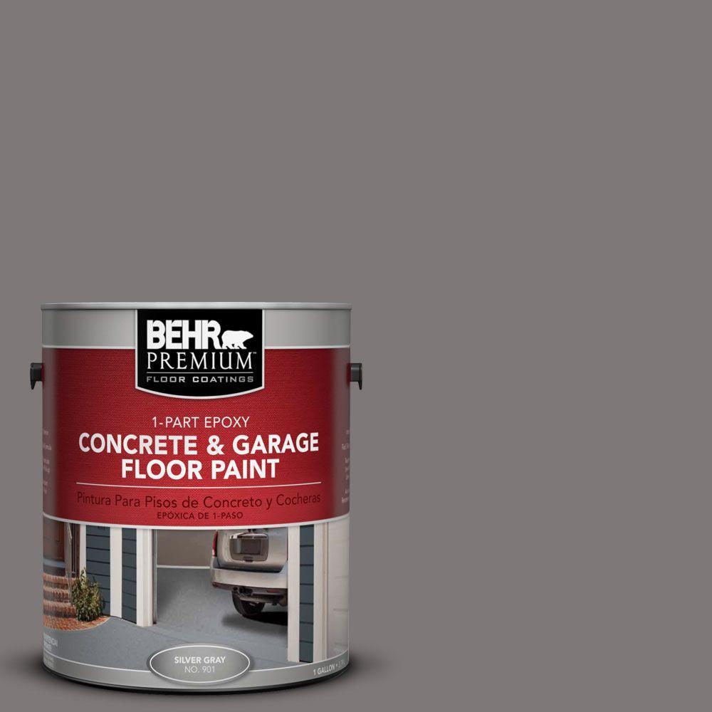 BEHR Premium 1-Gal. #PFC-74 Tarnished Silver 1-Part Epoxy Concrete and Garage Floor Paint