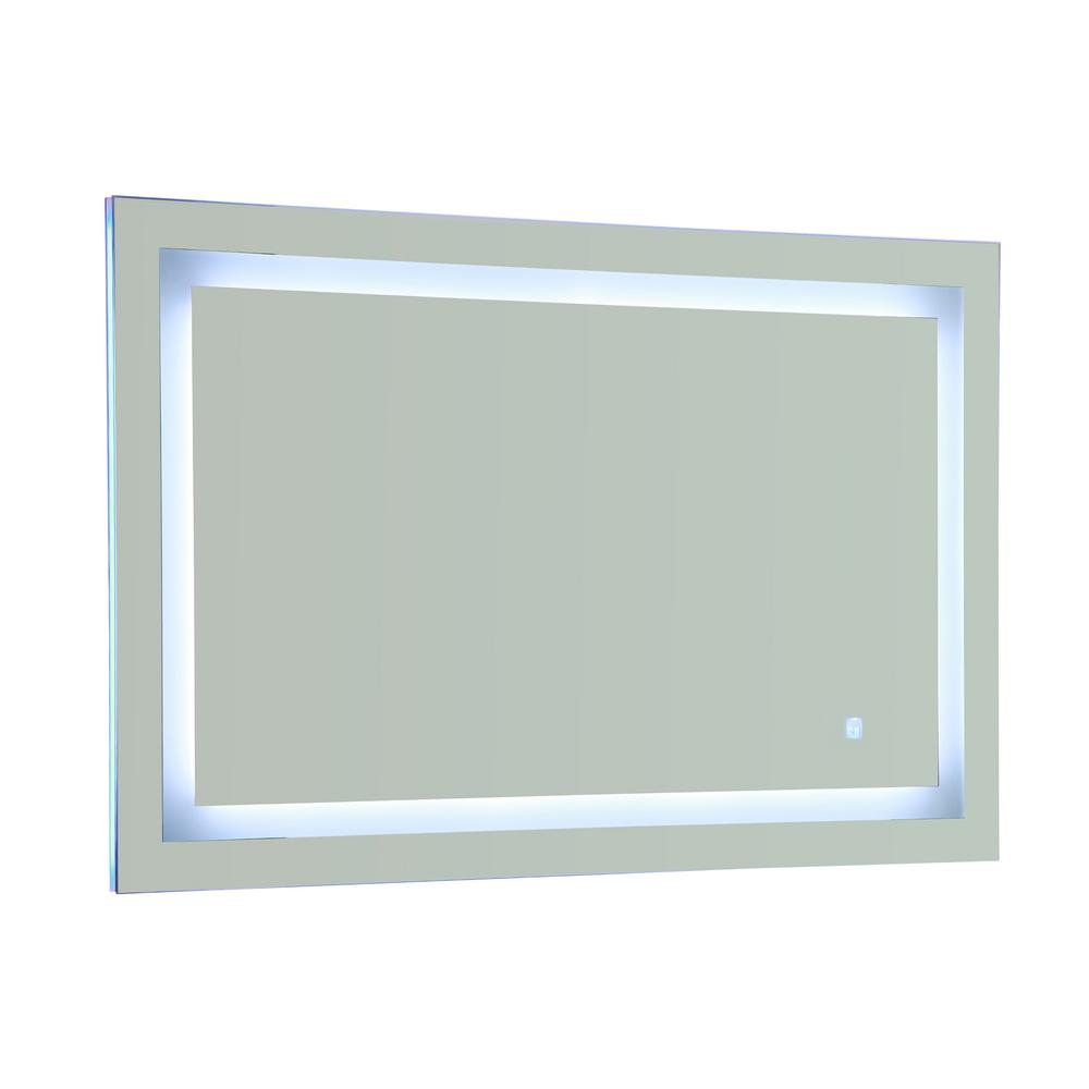 Vanity Art 28 in. x 43 in. White/Blue LED Lighted Mirror with Touch Sensor Switch, Clear was $446.99 now $290.54 (35.0% off)
