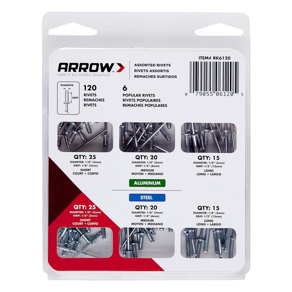 Arrow Rivet Kit (120-Piece)