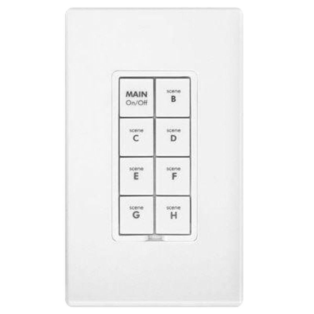 Smarthome INSTEON 8-Button Scene Control Keypad with Dimmer - White-DISCONTINUED