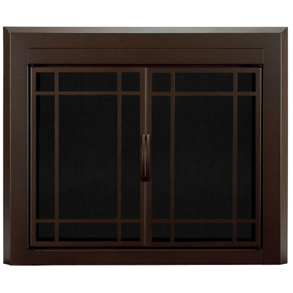 pleasant hearth enfield small glass fireplace doors en. Black Bedroom Furniture Sets. Home Design Ideas