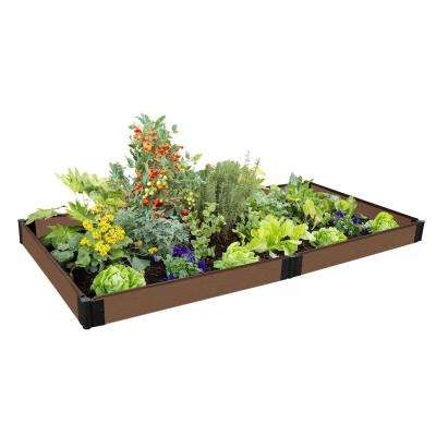 One Inch Series 4 ft. x 8 ft. x 5.5 in. Uptown Brown Composite Raised Garden Bed