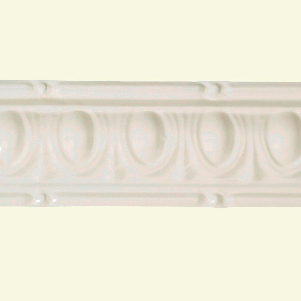 Great Lakes Tin 48 In Huron Tin Crown Molding In Antique