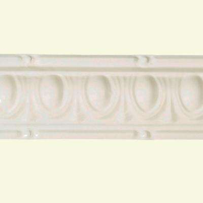 48 in. Huron Tin Crown Molding in Antique White