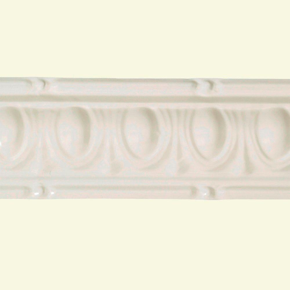 Huron Antique White 6 In Crown Molding