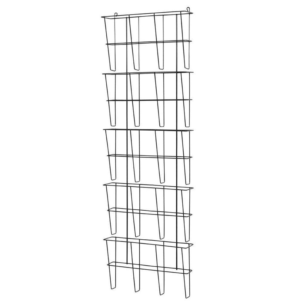 Buddy Products Wire Ware 5-Pocket Legal Size Literature Rack
