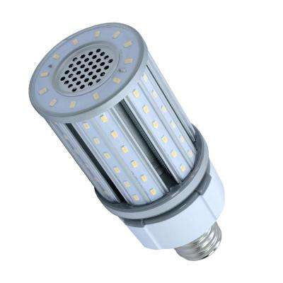 100-Watt Equivalent 27-Watt Corn Cob ED28 HID LED Post Top Bypass Utility Light Bulb Mog 120-277V Cool White 4000K 84021