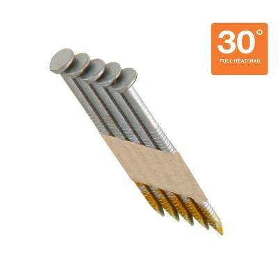 3 in. x 0.120 in. Galvanized Paper Collated Framing Nails (1,000 per Box)