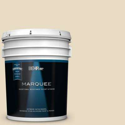 5 gal. #MQ3-41 Moongaze Satin Enamel Exterior Paint and Primer in One