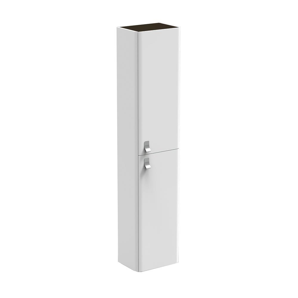 WS Bath Collections Concert Column 12 in. W x 9 in. D x 64 in. H Wall Mount Bathroom Column in Gloss White