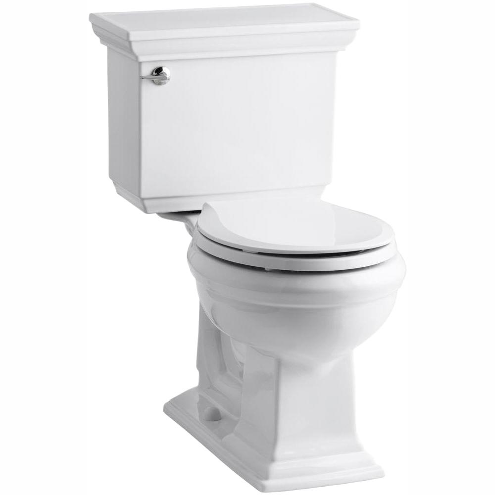 Astonishing Kohler Memoirs Stately Comfort Height 2 Piece 1 28 Gpf Single Flush Round Toilet In White Cachet Q3 Toilet Seat Included Beatyapartments Chair Design Images Beatyapartmentscom