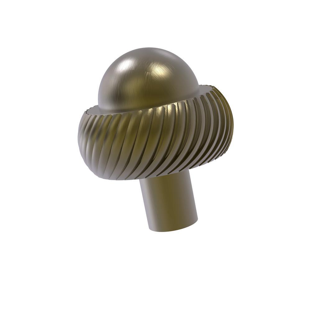 1-1/2 in. Cabinet Knob in Antique Brass