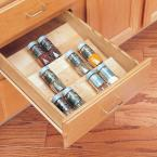 Home Decorators Collection 10x1.5x19 in. Spice Drawer Insert for 15 in. Shallow Drawer in Natural Maple