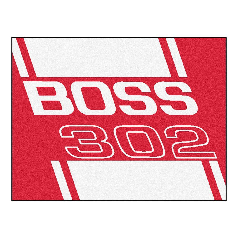 Ford - Boss 302 Red 3 ft. x 4 ft. Indoor