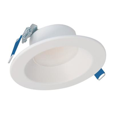 LCR4 4 in. Soft White Selectable CCT Integrated LED Recessed Light With Round Surface Mount White Trim Retrofit Module