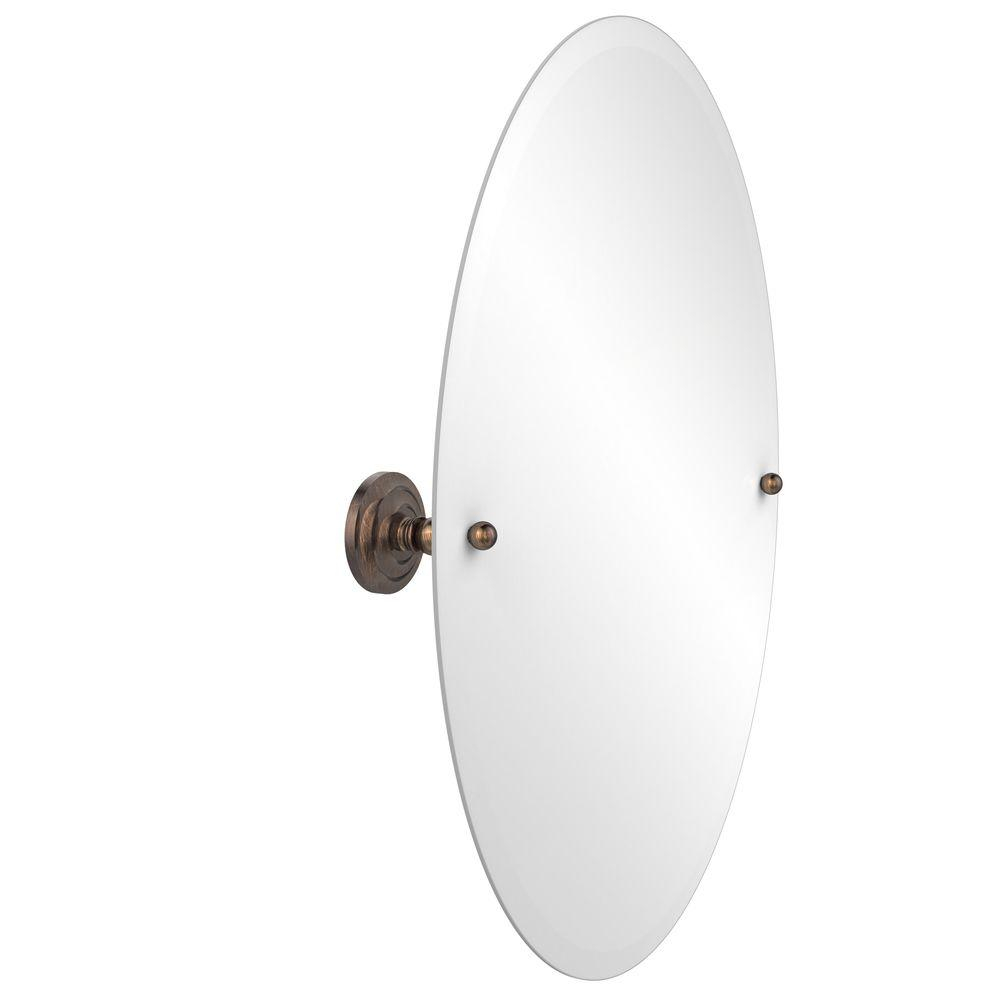 Prestige Regal Collection 21 in. x 29 in. Frameless Oval Single