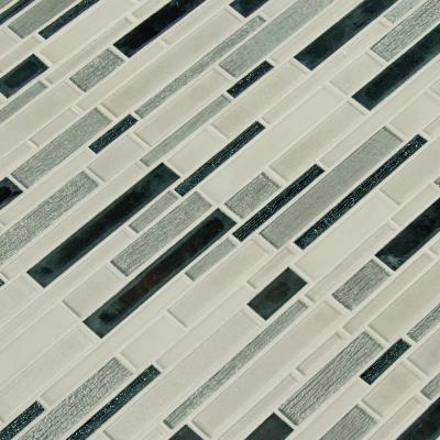 Anacapri Blend 12 in. x 12 in. x 6mm Textured Glass Mesh-Mounted Mosaic Tile ( 15 sq. ft. / case )