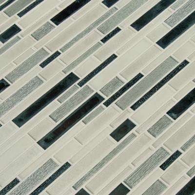 12 in. x 12 in. x 6mm Anacapri Blend Textured Glass Mesh-Mounted Mosaic Tile (1 sq. ft.)
