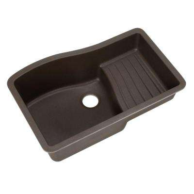 Ascend Undermount Granite 32 in. 0-Hole Single Bowl Kitchen Sink in Espresso