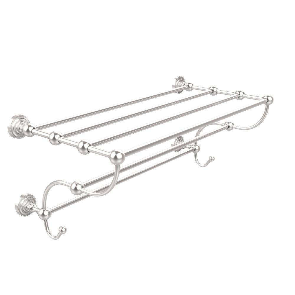 Dottingham Collection 36 in. Train Rack Towel Shelf in Satin Chrome