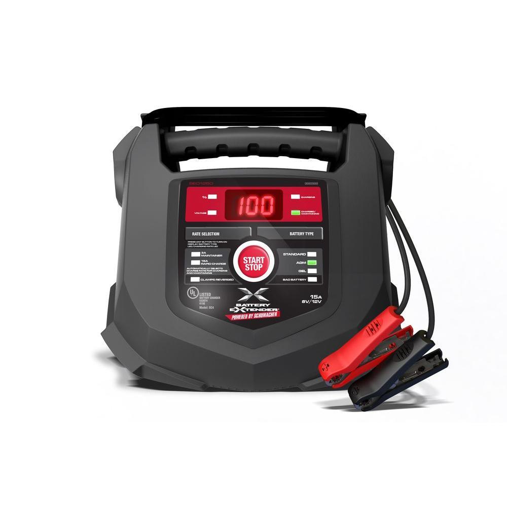 Schumacher Battery Extender 6-Volt or 12-Volt, 15 Amp Battery Charger/Maintainer by Schumacher