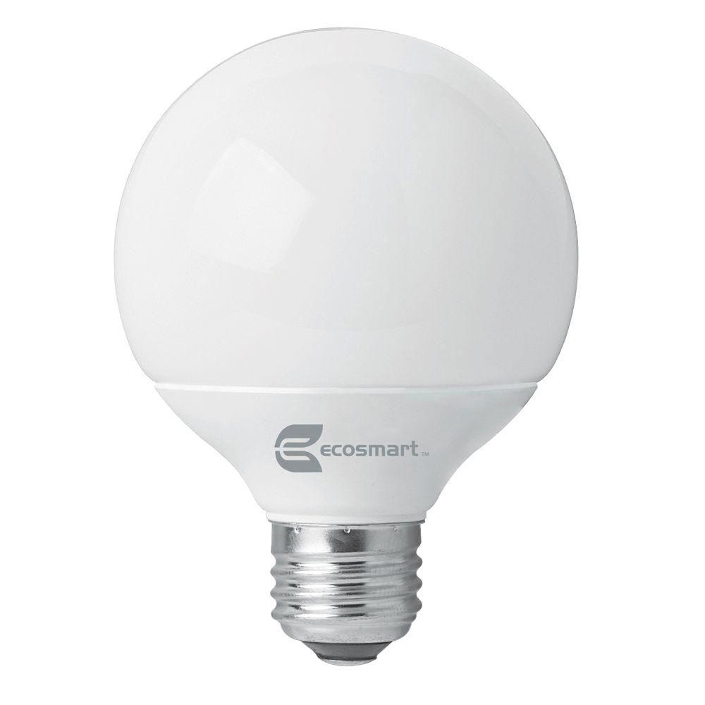 EcoSmart 60W Equivalent Soft White G25 CFL Light Bulb (4-Pack)