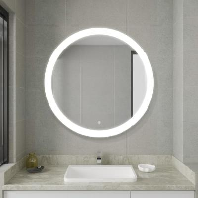 Round Frameless Led Light Vanity Mirrors Bathroom Mirrors The Home Depot