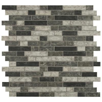 Urban Tapestry Interlocking 11.81 in. x 11.81 in. x 6 mm Matte Glass Mesh-Mounted Mosaic Tile (0.98 sq. ft.)