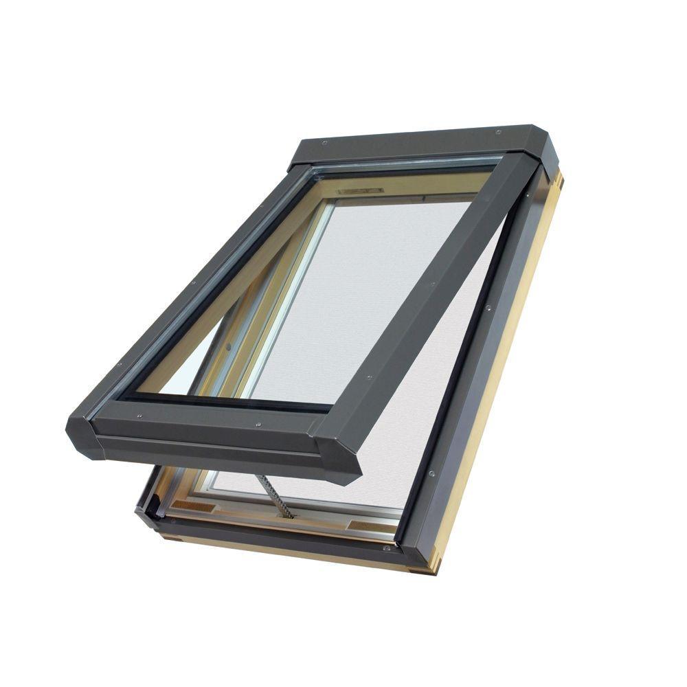 Fakro Eletric Venting Skylight FVE 32/55 Z3 (Tempered Glass, LowE)
