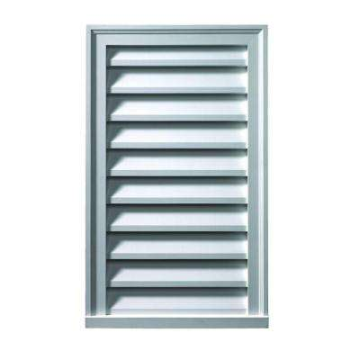 24 in. x 24 in. x 2 in. Polyurethane Functional Vertical Louver Gable Vent