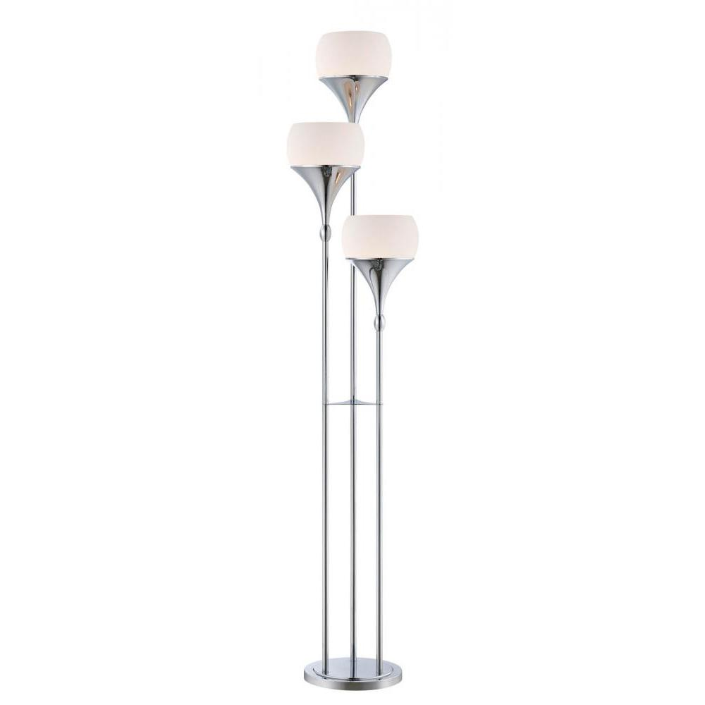 Simple designs floor lamps lamps the home depot 3 light polished chrome floor lamp mozeypictures Gallery