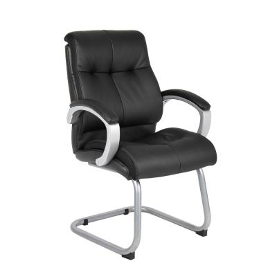 Double Plush in Black Executive Guest Chair