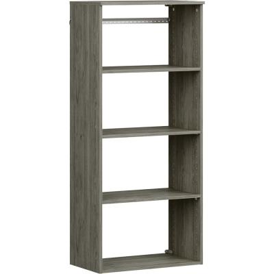 Style+ 25 in. W Coastal Teak Hanging Wood Closet Tower