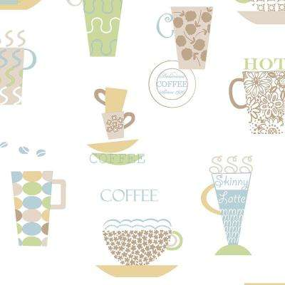 Norwall Coffee Time Vinyl Strippable Roll Wallpaper Covers 56 Sq Ft Fk34426 The Home Depot
