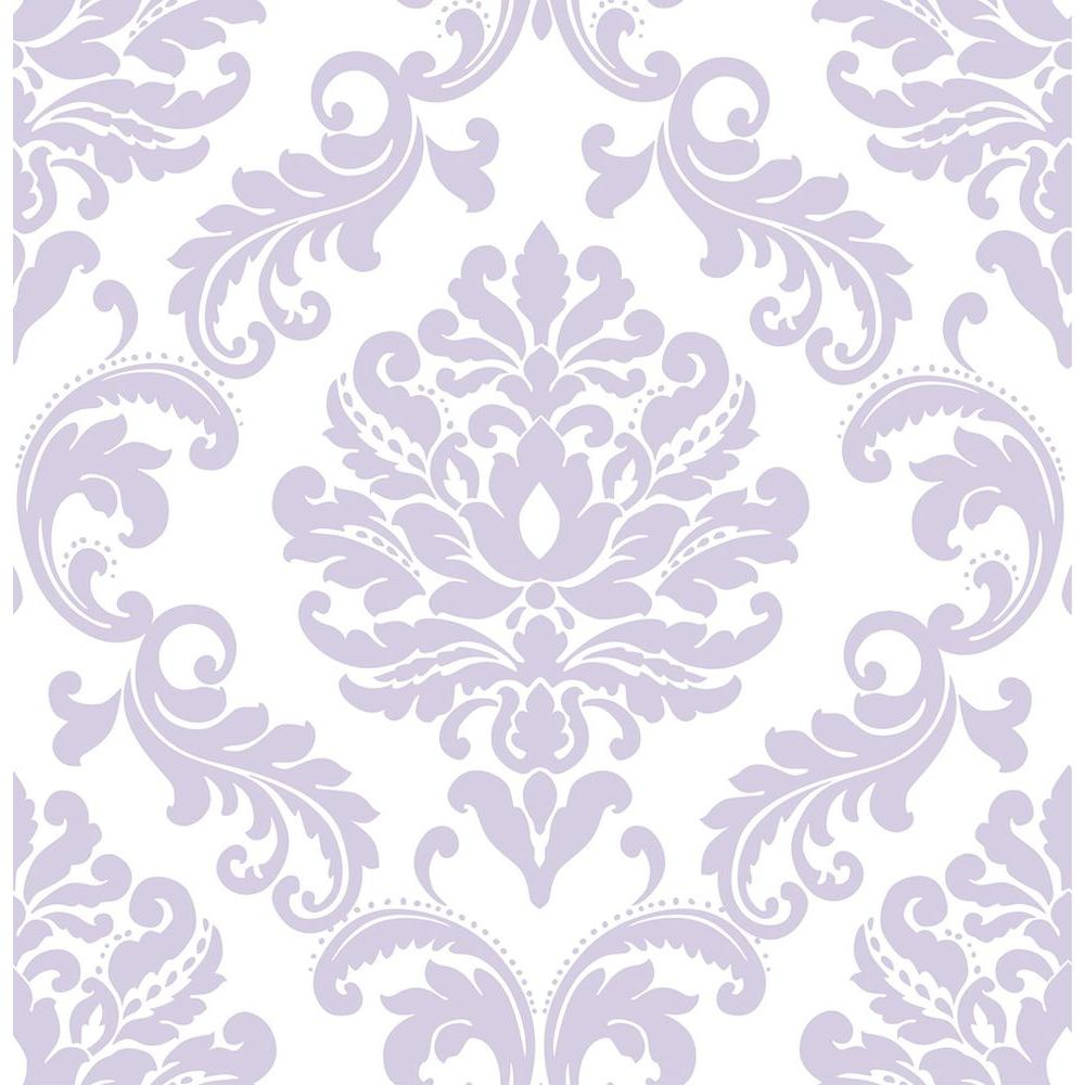 Nuwallpaper purple ariel peel and stick wallpaper nu1396 for Paintable peel n stick wallpaper