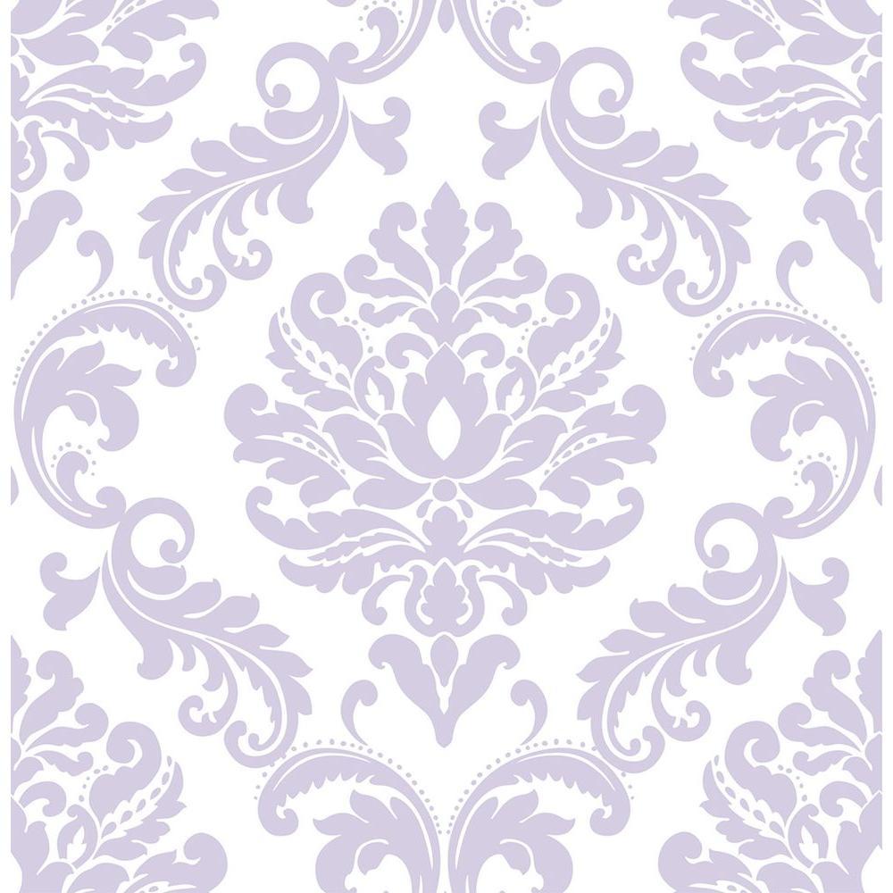 Purple Ariel Peel and Stick Wallpaper