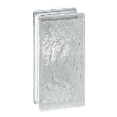 3.75 in. x 7.75 in. x 3.12 in. Ice Pattern Glass Block (10-Pack)