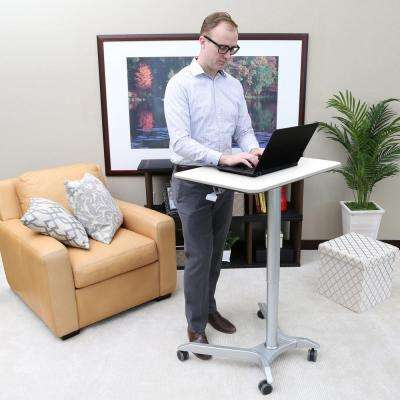 Airlift White Sit-Stand Mobile Pneumatic Desk