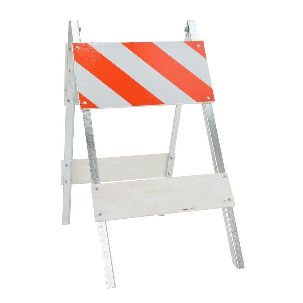12 in. Plywood/Galvanized EG Sheeting Type I Folding Barricade
