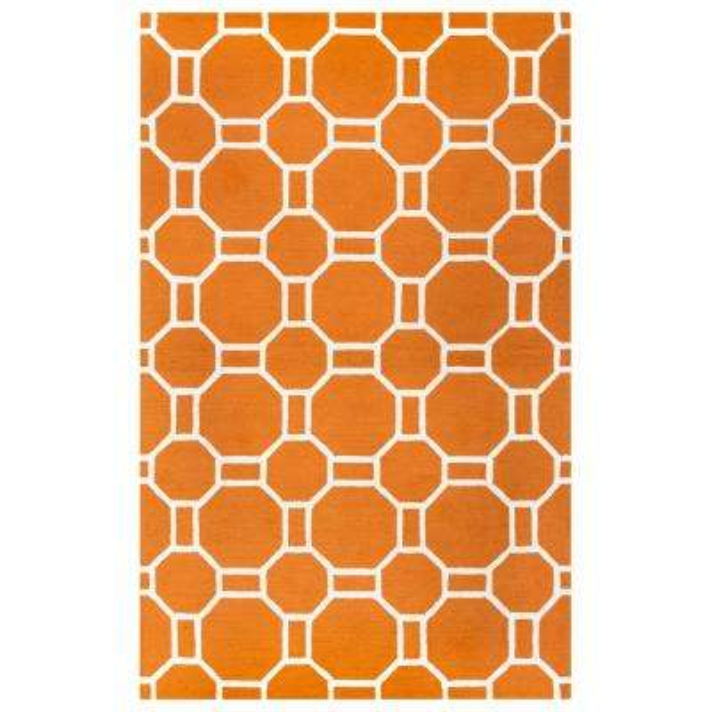 Azzura Hill Orange Geometric 2 ft. x 3 ft. Outdoor Area Rug