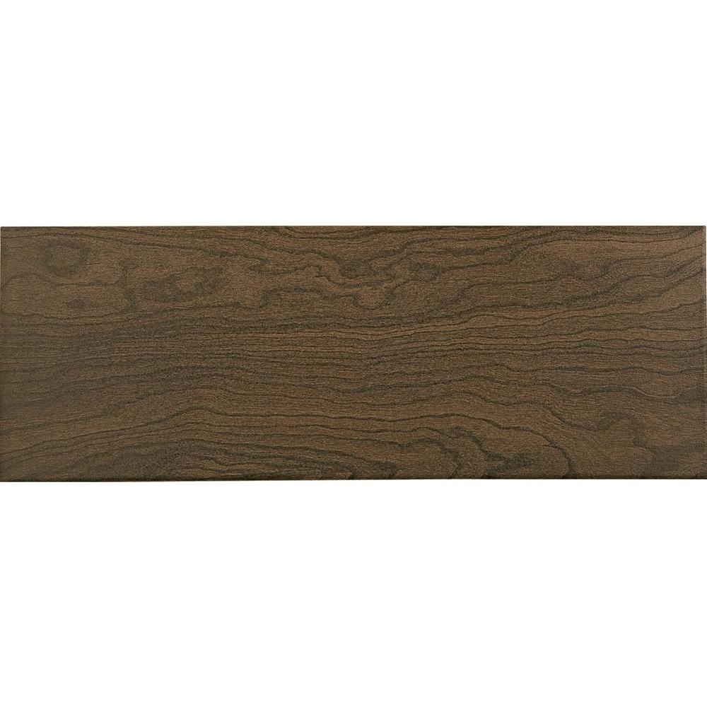 Parkwood Brown 7 in. x 20 in. Ceramic Floor and Wall