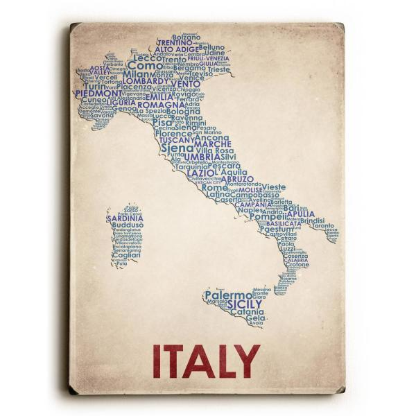 9 In X 12 In Italy By American Flat Solid Wood Wall Art