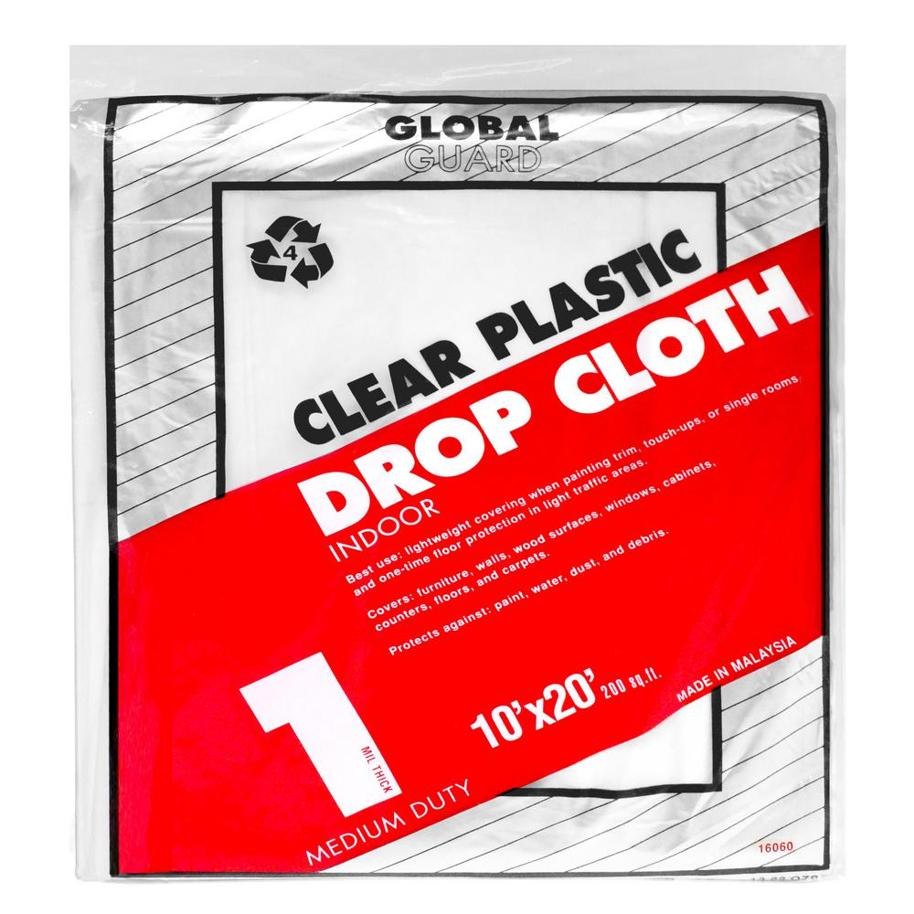 plastic drop cloth 24