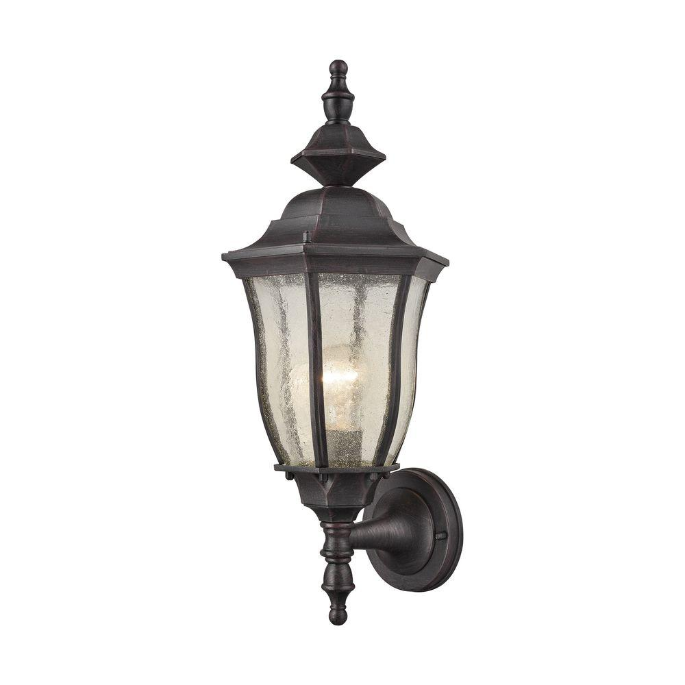 Bennet 1-Light Graphite Black Outdoor Wall Sconce