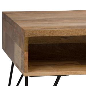 3845d7545af40 +8. Simpli Home Hunter Solid Mango Wood and Metal 48 in. Wide Mid Century  Modern Coffee