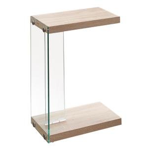 Elaina Light Brown Oak Chair Side End Table by