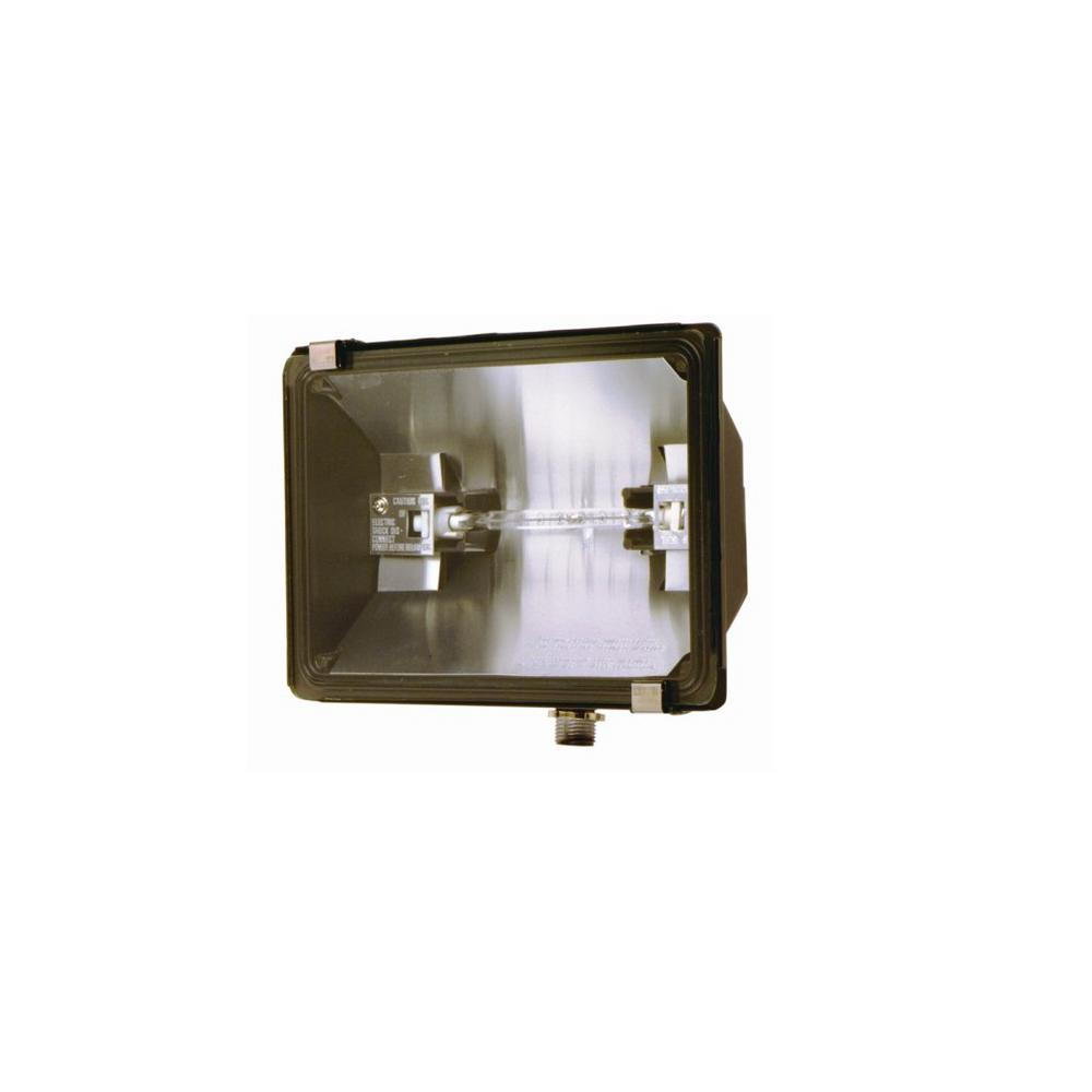 500-Watt Bronze Outdoor Landscape Flood Light with Halogen Bulb