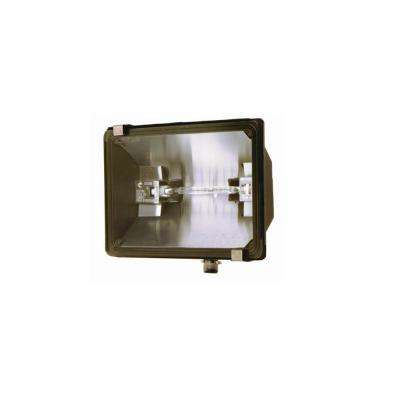 500 Watt Bronze Outdoor Landscape Flood Light With Halogen Bulb